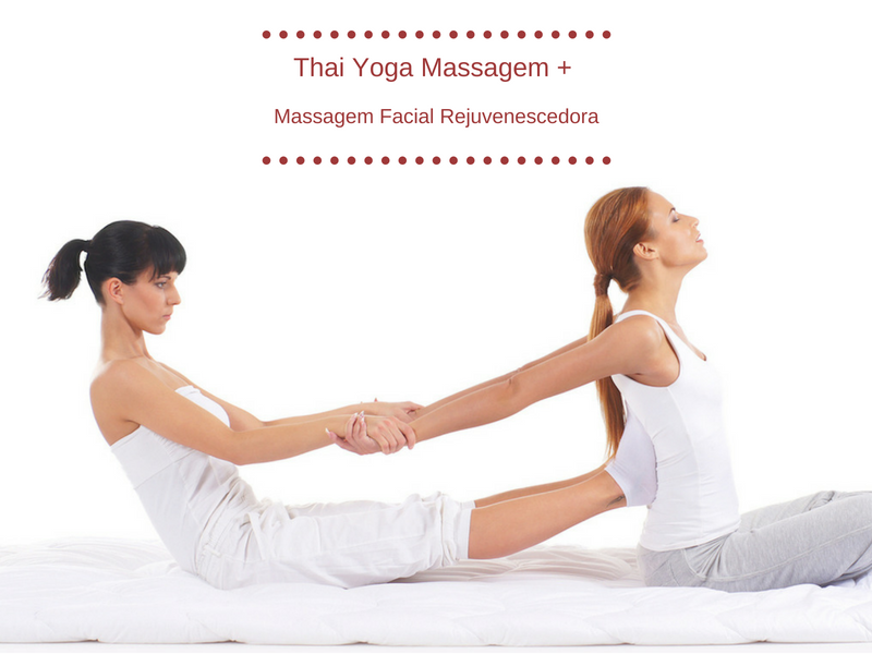 Thai Yoga Massagem + Massagem Facial Rejuvenescedora